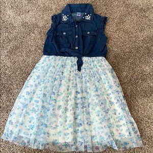 Girl's flower jean dress